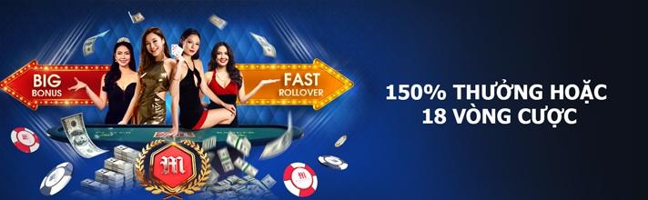 Khuyến mãi chào mừng độc quyền tại Casino trực tuyến